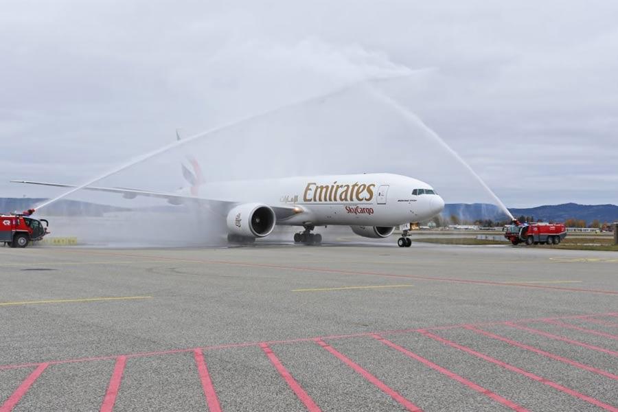 Emirates åpnet fraktrute på Oslo lufthavn