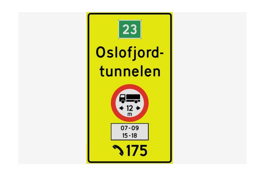 Forbudt for tunge kjøretøy over 12 meter i rushtiden
