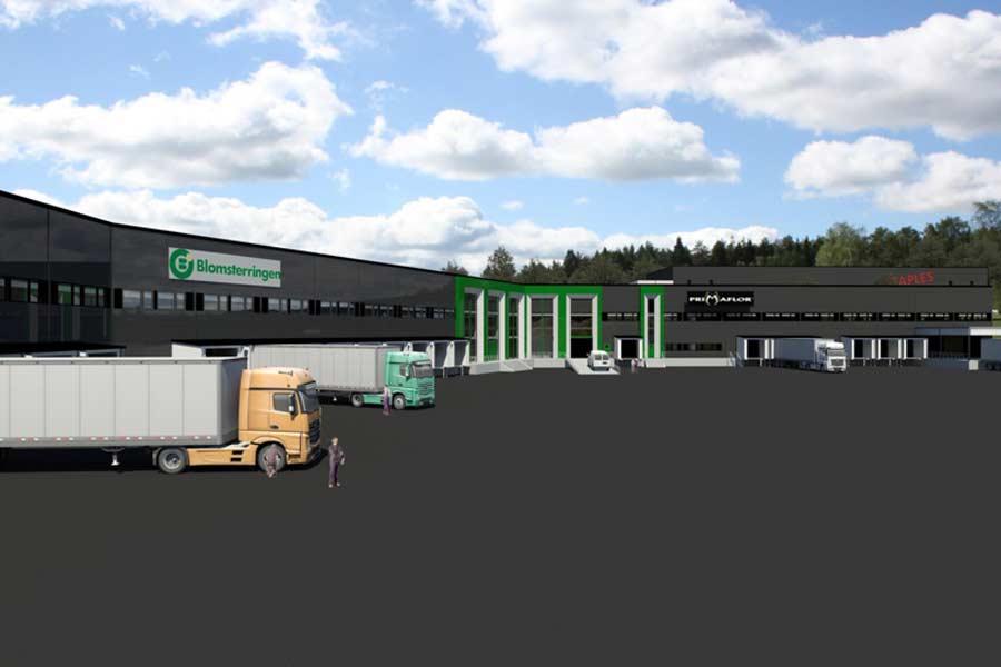 Bygger lager- og logistikkbygning i Skedsmo