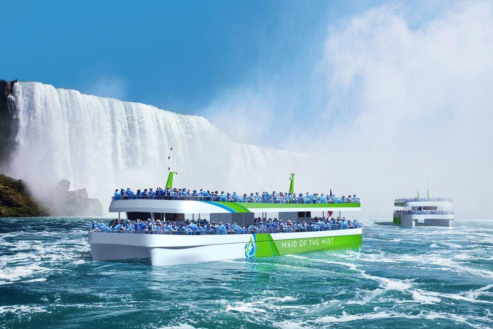 Driver helelektriske passasjerferger ved Niagarafallene