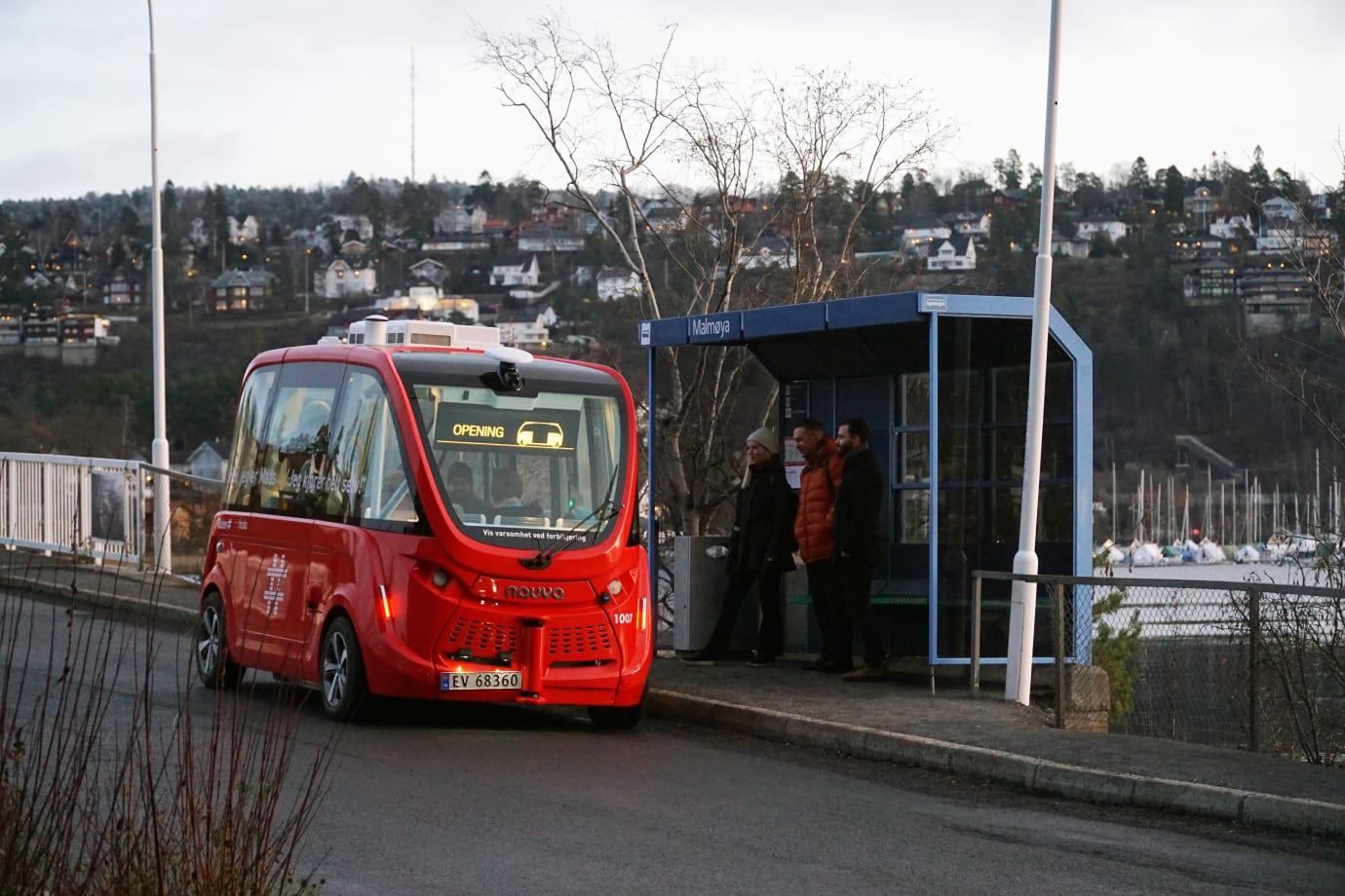 Ruters utprøvning av selvkjørende busser er i gang