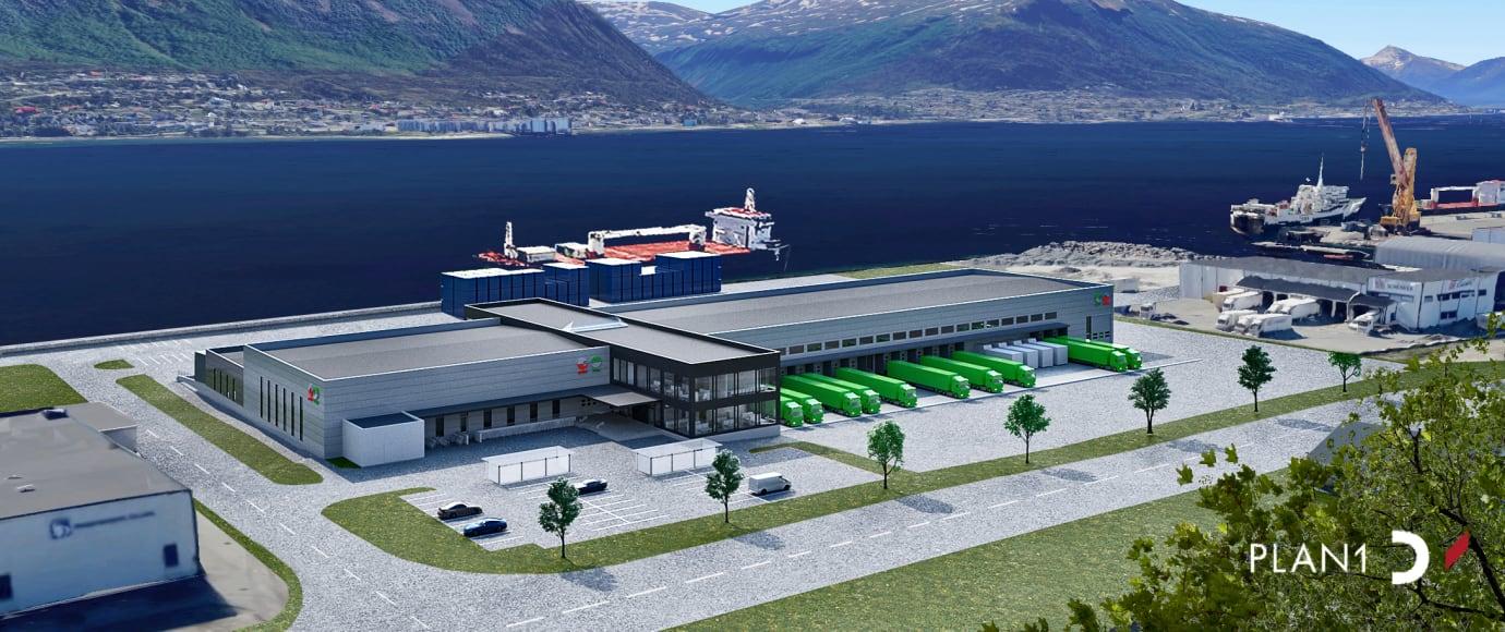 Bygger Nord-Norges største logistikksenter i Tromsø