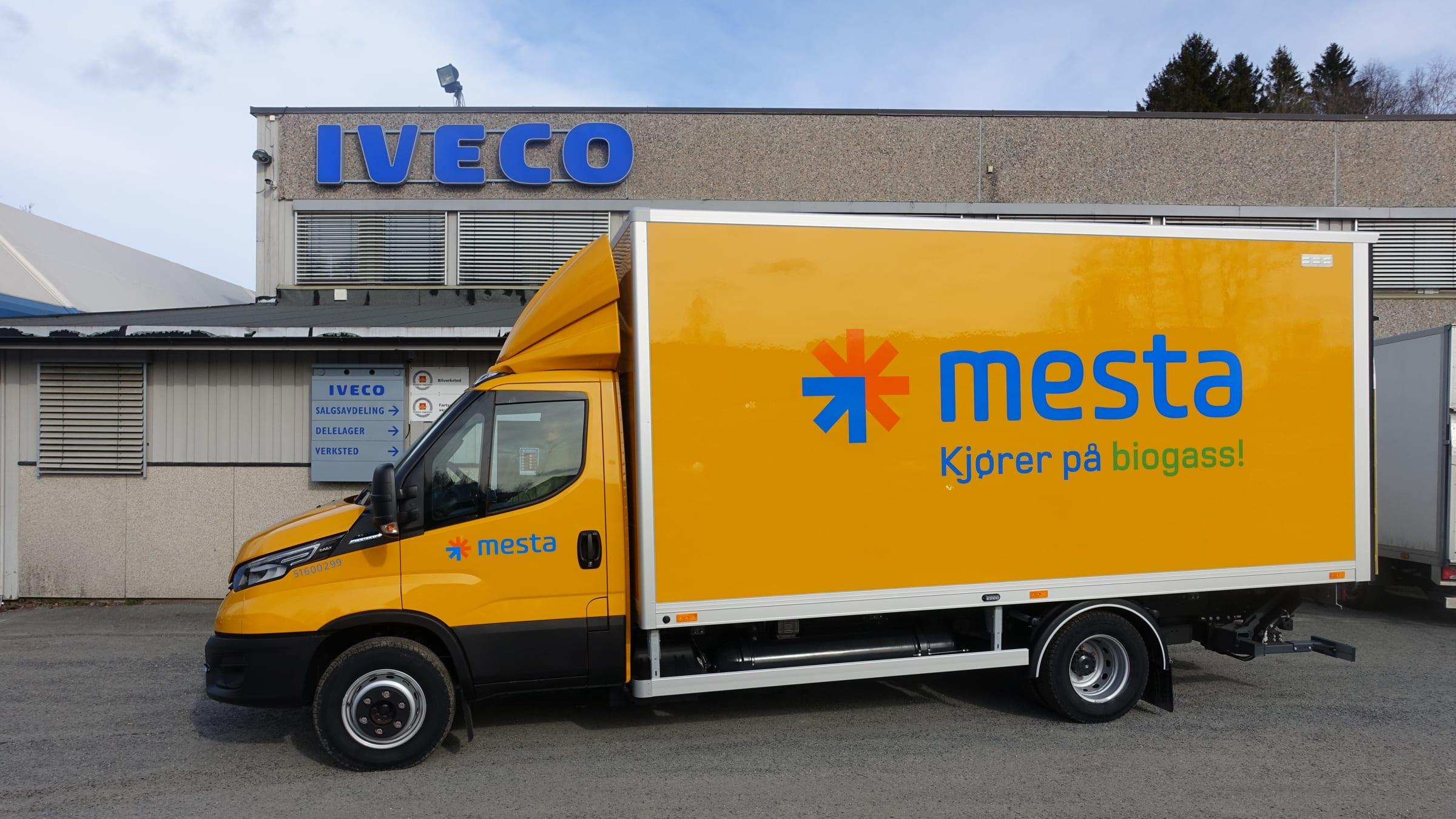 Leverer første biogassbil til Mesta som sikrer en grønn profil