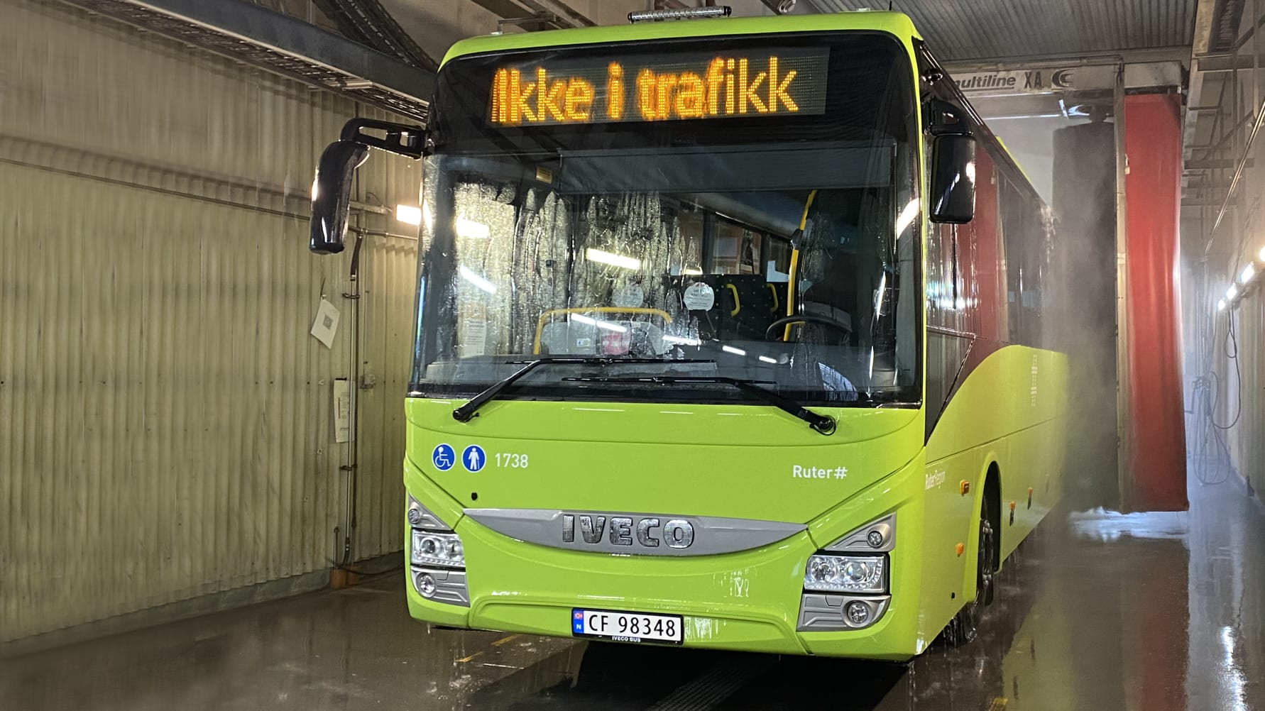Norges første svanemerkede bussvaskehall