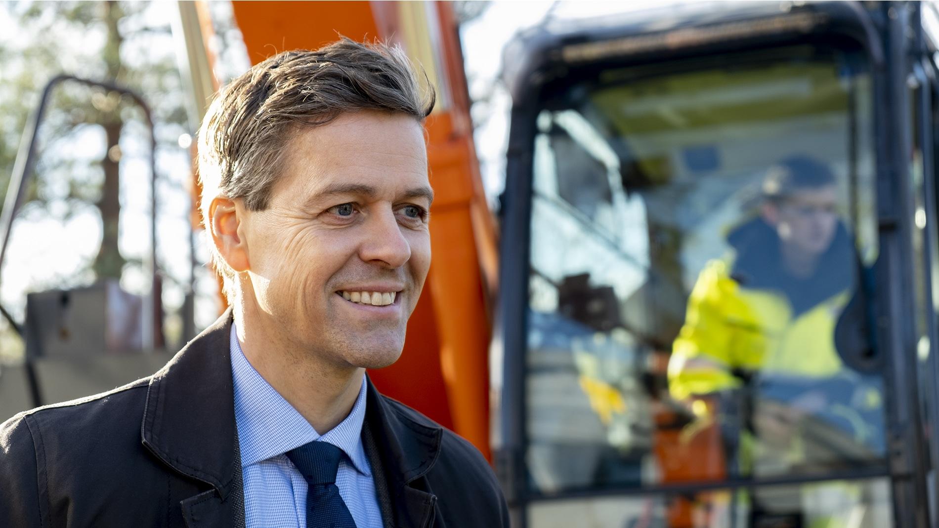 Ny handlingsplan: Anleggsplasser i transportsektoren skal bli fossilfrie
