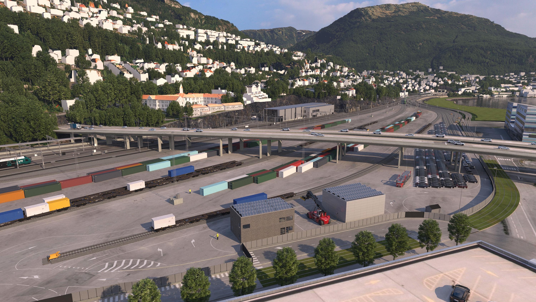 Jobber for å gjøre godsterminalene utslippsfrie